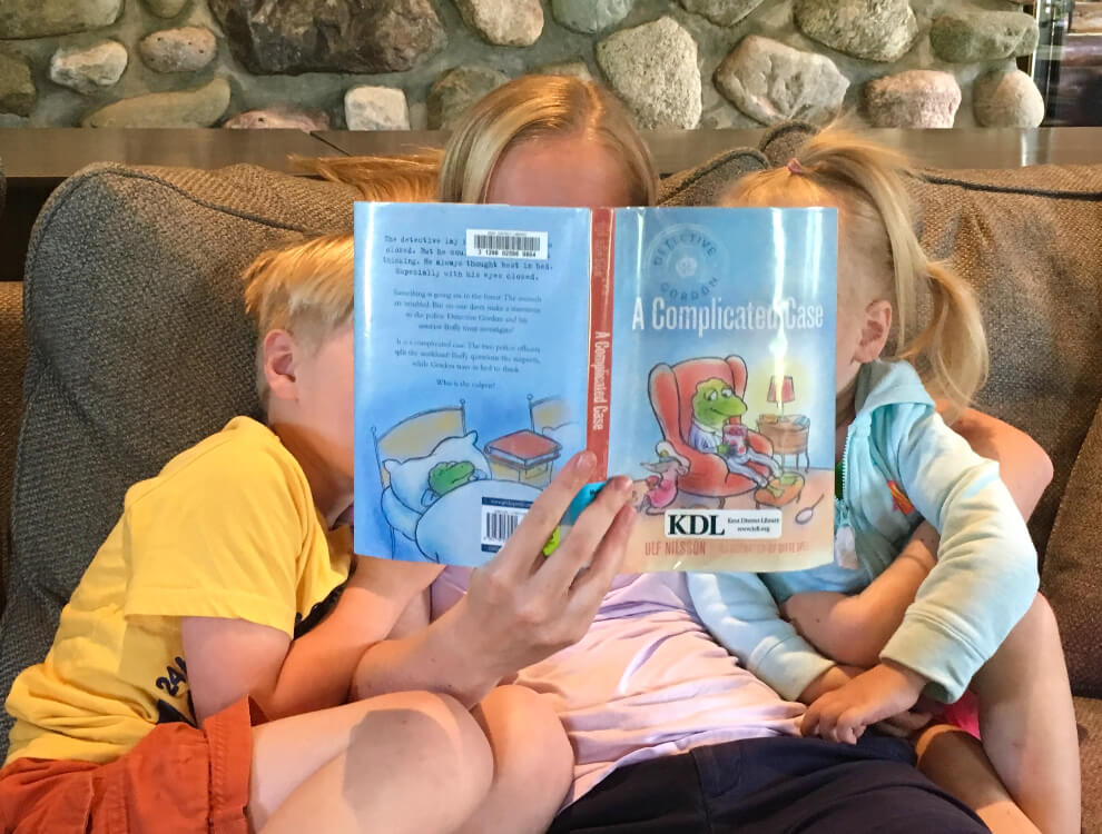 Reading together is great, and this easy book activity can lead to great conversations about the book.