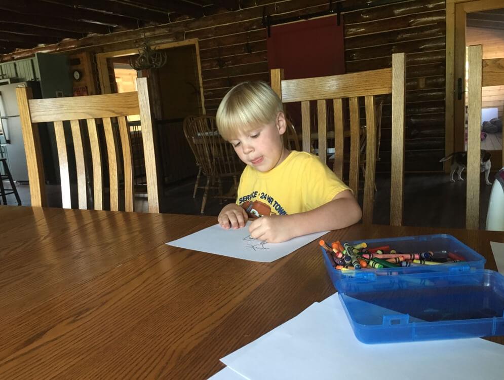It's a super simple kids' literary activity!