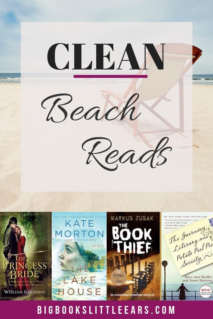 Clean beach reads pin