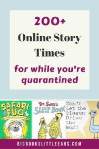 Online Story Times for during the coronavirus shutdown