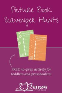 Picture Book Scavenger Hunt for Toddlers and Preschoolers