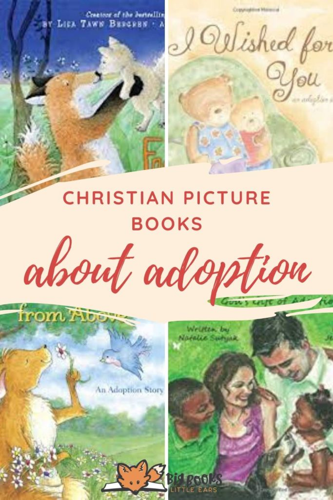 Christian picture books about adoption pin - updated in 2020