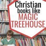 Christian books like Magic Treehouse pin image