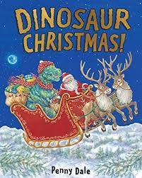 cover of Dinosaur Christmas, a secular Christmas picture book